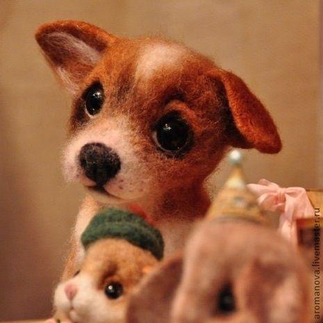 Купить щенок корги:) Гермес - оранжевый, рыжий, щенок, собака, собака игрушка, щеночек