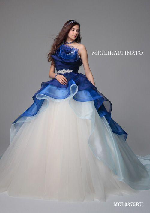 ブライダルサロンこなか《MIGLIRAFFINATO》青と白のコントラストが透明感と爽やかさを演出☆のページです。ウエディングドレスを探すならゼクシィ。