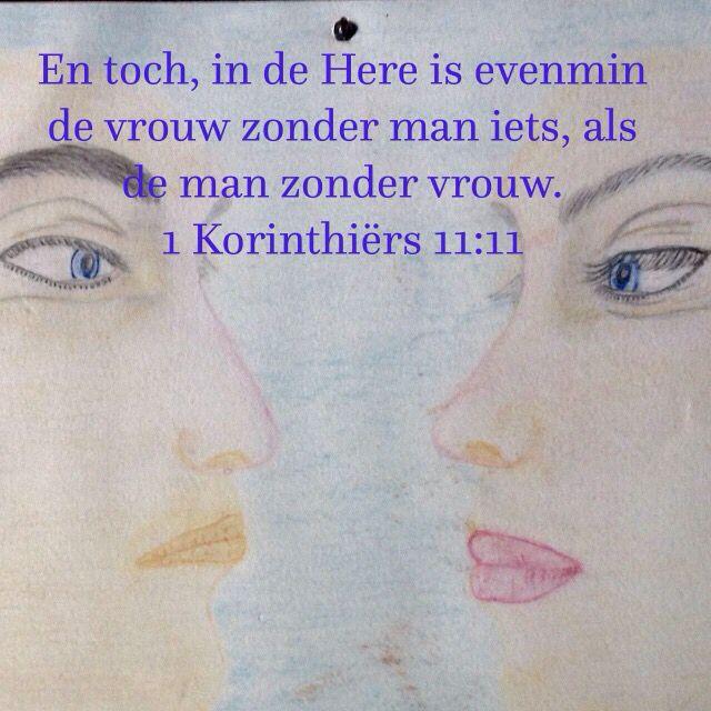 Getekend door mij, tekst 1 Korinthiërs 11:11