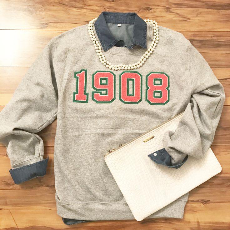 Fashionably Greek's Alpha Kappa Alpha Gray 1908 sweatshirts.