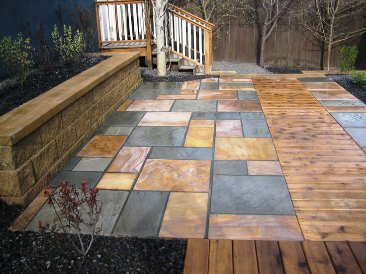 with that thought, we want to share 12 amazing stone patio designs ... - Natural Stone Patio Designs