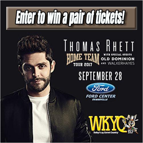 Thomas Rhett Ticket Giveaway