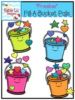 Bucket Filling Activities: FREE Fill A Bucket clip art.