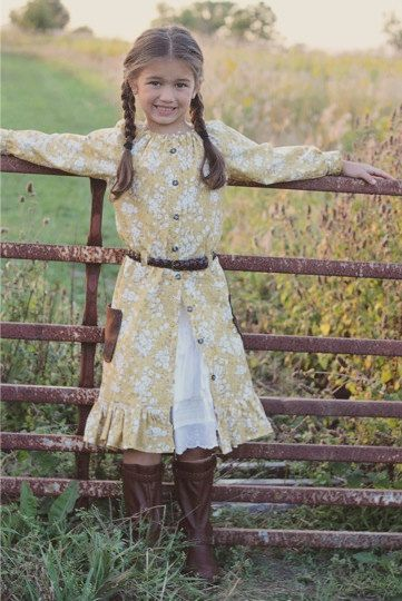 Prairie Girl Peasant Petticoat Girls and by EllieInspiredClothes, $9.95