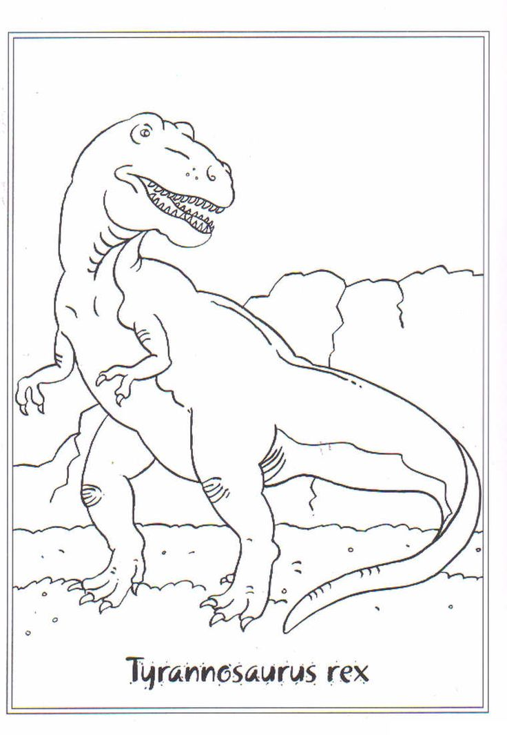coloring page Dinosaurs 2 - Tyrannosaurus rex