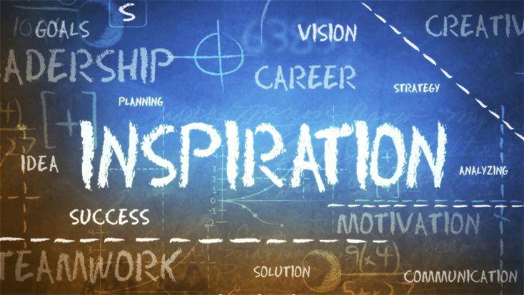 Inspiratie in het begin van heel veel dingen.