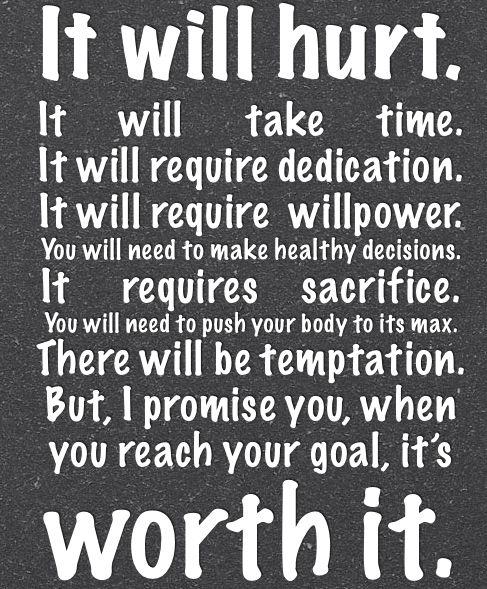 it will hurt...