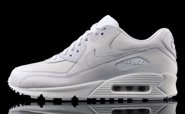 Nike Air Max 90 Premium White Leather Sneaker Bar Detroit Nike Air Max White Leather Sneakers Nike Air Max 90 Outfit