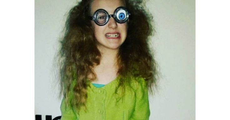 Mussed-up hair, a scowl and customised glasses. Add a walking stick - and look! It's Roald Dahl's Mrs Twit.      Instagram/ @lia29x