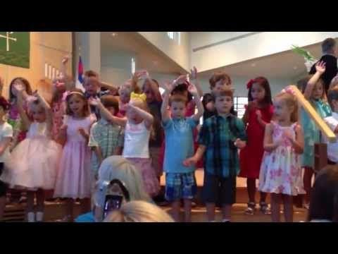 Gavin's preschool graduation performance - goodbye song - YouTube