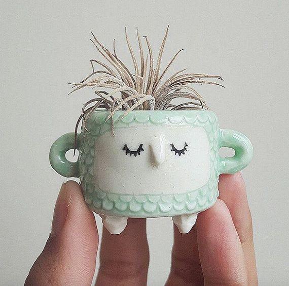 Jeu de poissons échelle planteur / / Cute planteur, Candle holder, cache-pot, décoration de la maison