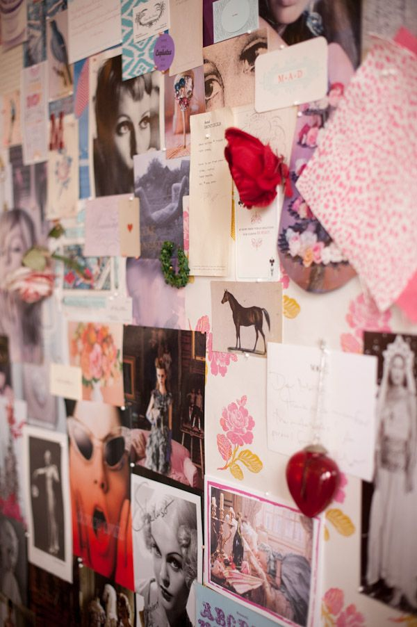 Inspiration boards. Love them. Need a huge cork board on my wall for one.