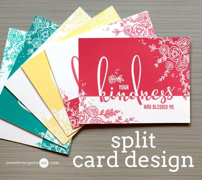 Split Card Design + Stamps For a Cause + Giveaway | Jennifer McGuire Ink | Bloglovin'