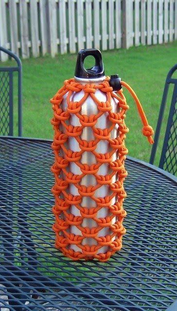 Paracord bottle wrap