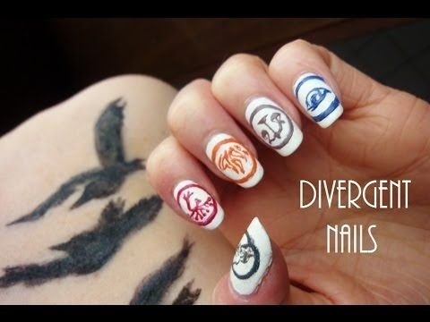 The 25 best divergent nails ideas on pinterest bird nail art hey guys i am a huge fan of divergent so i thougth 5 fractions 5 fingers on one hand perfect for a nail art tutorial and tell me which fraction prinsesfo Image collections
