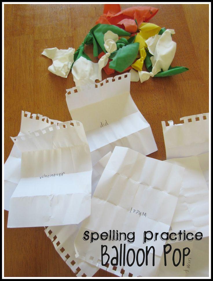 Nieubłaganie zabawa, do złudzenia edukacyjne: Pisownia Practice Balloon Pop