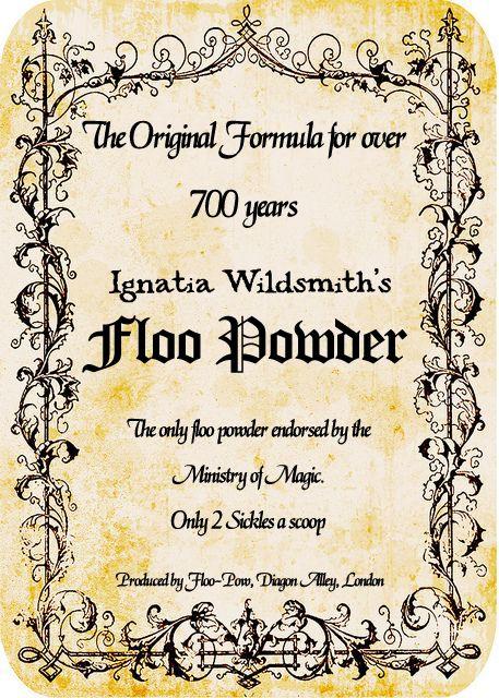Floo Powder label/sign