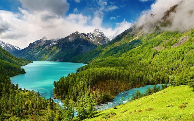 Lake Kucherla (Кучерлинское), Altai Mountains and Katun Nature Reserve of Siberia, Russia