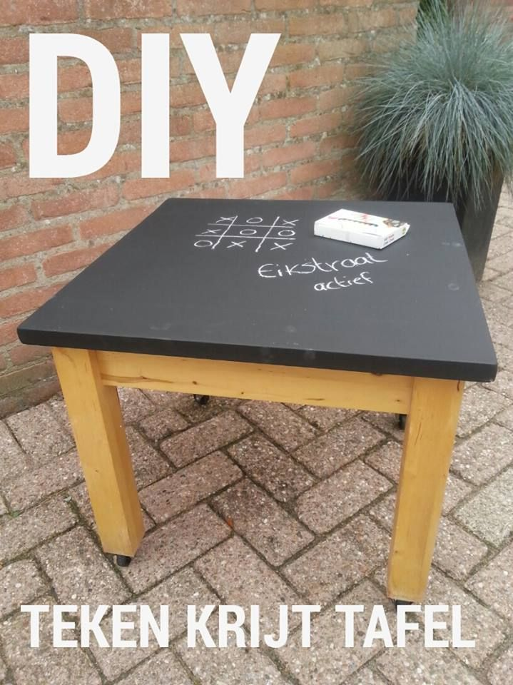 DIY chalkboard table for kids