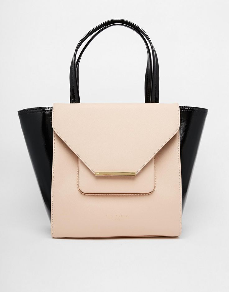 Ted Baker Patent Crosshatch Large Shopper