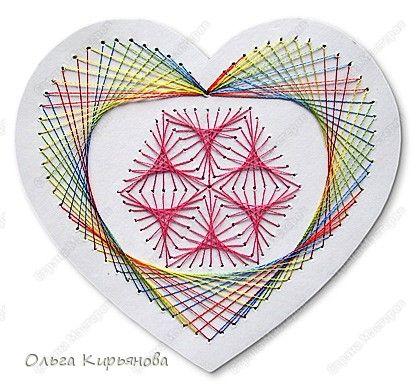 Master Class Izon Valentine's Day card with hearts Cardboard Threads