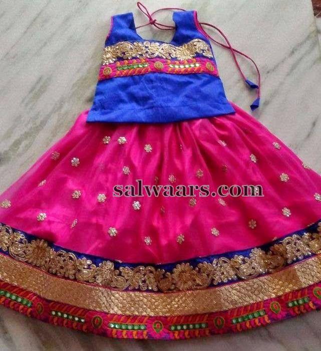 Pink Stones Work Lehenga - Indian Dresses