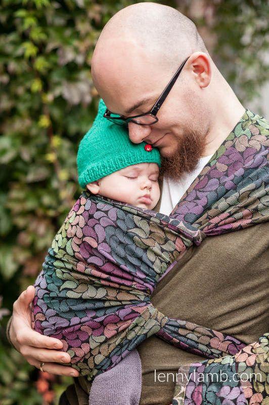 Żakardowa chusta do noszenia dzieci, bawełna - KOLORY DESZCZU - rozmiar L #babywearing