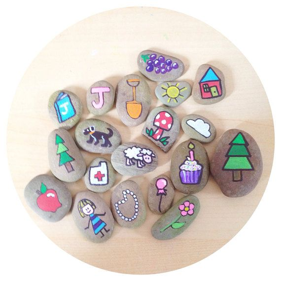 Custom Hand Painted Story Stones by TheSweeterSideMom on Etsy, $20.00
