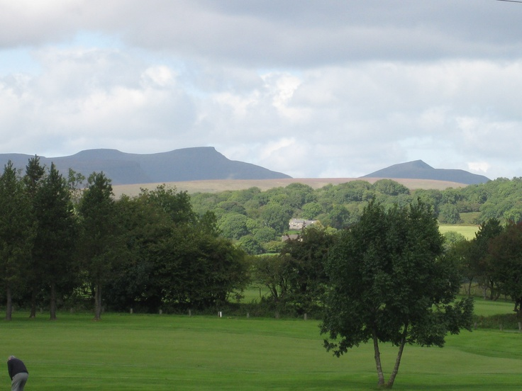 The Brecon Beacons, looking north from the village of Pantyscallog, South Wales. One of my favorite views in the world.