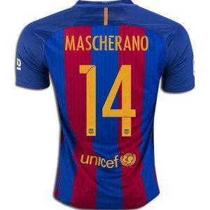 16-17 Football Shirt Barcelona Cheap Mascherano #14 Home Replica Jersey [F198]