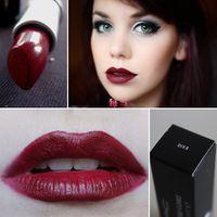 1 unids caliente mate maquillaje de la marca DIVA lápiz labial 3 G Retro vino rojo profundo lápiz labial venta al por mayor
