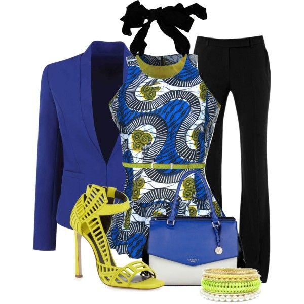 African Print Top, created by justbeccuz on Polyvore