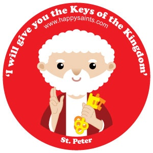 """St. Peter www.happysaints.com ~ Jesus asked his disciples, """"Who do people say the Human One [Son of Man] is?...""""And what about you? Who do you say that I am?"""" Peter said, """"You are the Christ, the Son of the living God."""" Jesus replied, """"Happy are you... because no human has shown this to you.My Father who is in heaven has shown you.You are Peter, and on this rock I will build My Church; and the gates of hell will not overpower it.I will give you the keys of the…"""