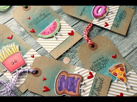 Prairie Paper & Ink: SSS Funny Food Tags | Distress Oxide Ink | Copics
