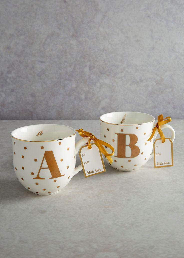 alphabet letter mug 10cm