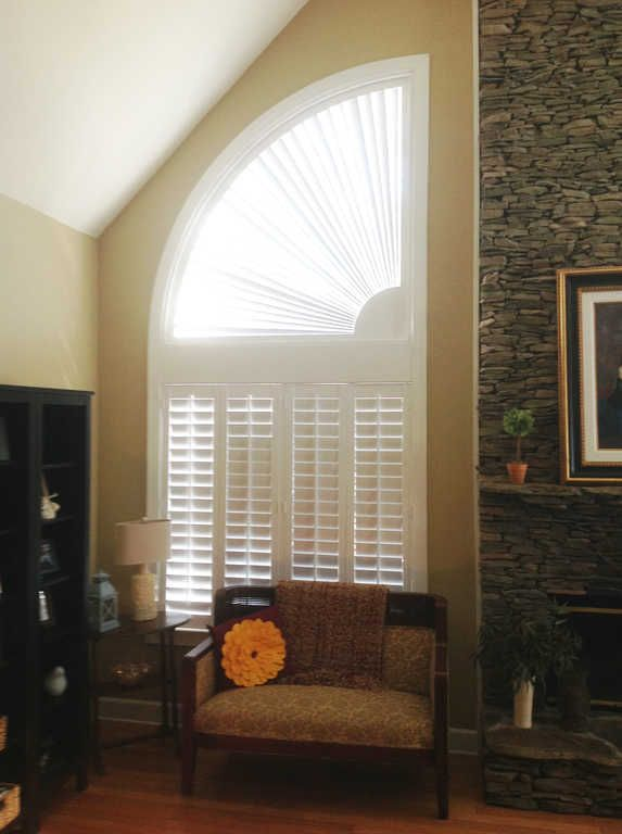 79 Best Arched Plantation Shutters Images On Pinterest Indoor Shutters Blinds And Interior