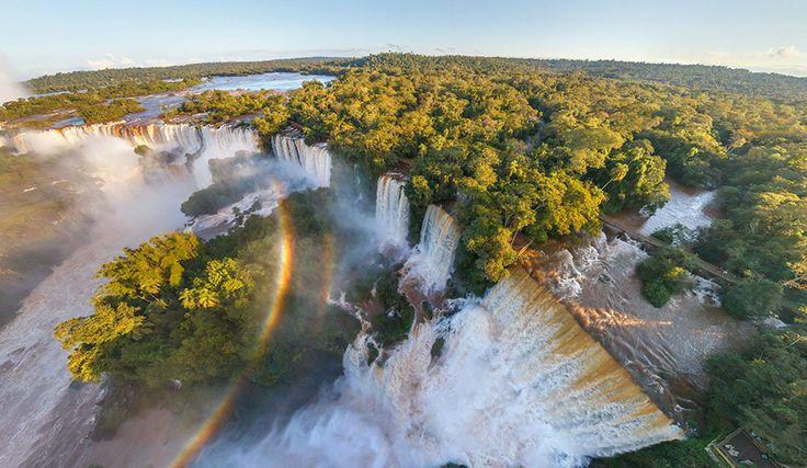 Las Cataratas del Iguazú, Argentina-Brasil. Foto: Airpano.ru