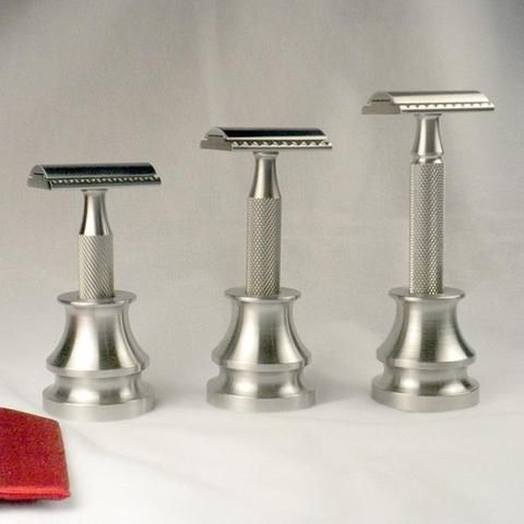 Stainless Ink Well Razor Stand - Above the Tie