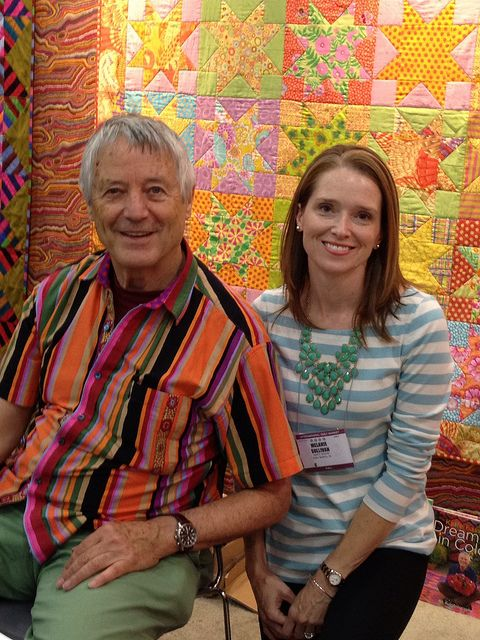Meeting the King of Color, Kaffe Fassett     **this guy makes the most beautiful quilts ever ** !!!!!