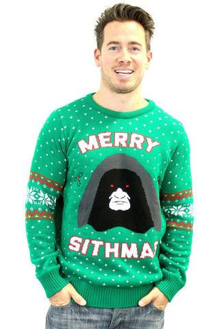 Star Wars Official Merry Sithmas Knitted Christmas Jumper - BAY 57  - 1