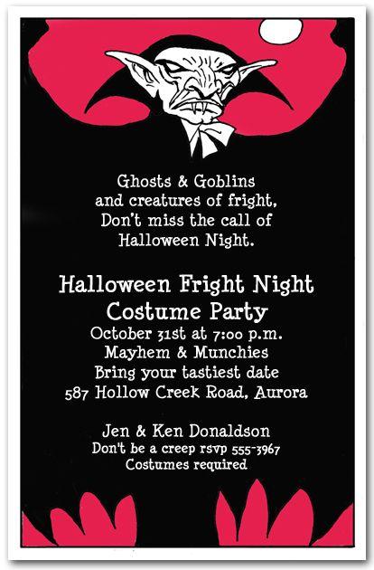 halloween invitations vampire scare halloween party invitations from announcingitcom halloween - Halloween Invitation Verses