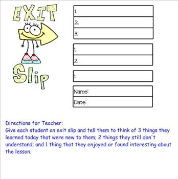 76 best Exit Ticketsthe new  - exit ticket template