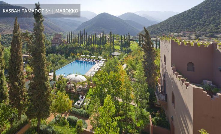 KASBAH TAMADOT 5* │ MAROKKO  Richard Bransons schönste Badewanne vor dem Panorama des Atlasgebirges
