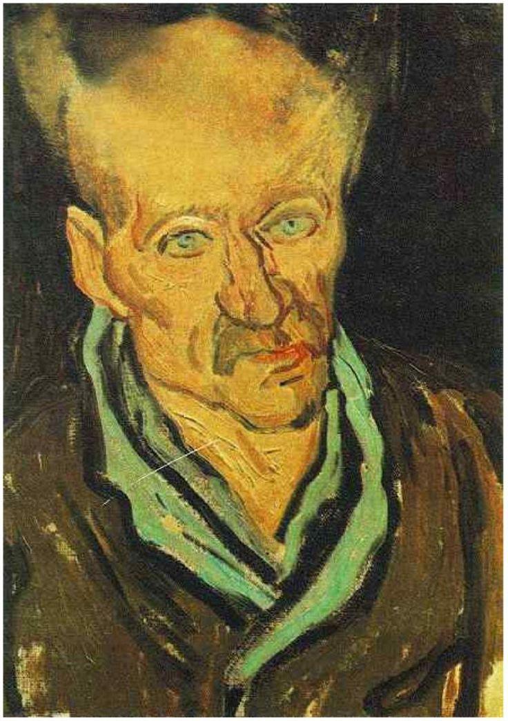 Portrait of a Patient in Saint-Paul Hospital Vincent van Gogh Painting, Oil on Canvas Saint-Rémy: October, 1889