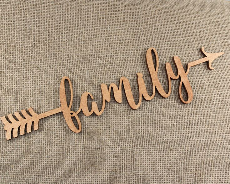 Arrow Word, Family Arrow, Wood Arrow Words, Arrow Word Art, Family Sign, Custom Arrow Sign, Home Decor, Gallery Wall Art, Feature Wall Decor by TimelessNotion on Etsy