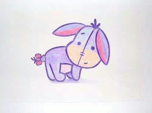Disney art cutie eeyore. -- should be super simple to draw going to totally draw this