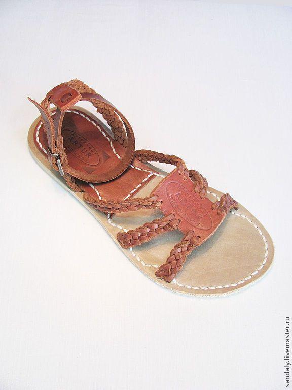 Купить Греческие сандалии №21 - коричневый, сандалии из кожи, летняя обувь, натуральная кожа