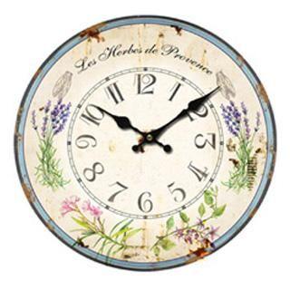 Nástěnné hodiny - luční kvítí z Provence