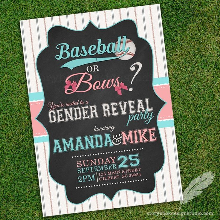 Best 25 Baseball or Bows Gender Reveal ideas on Pinterest | Baseball ...