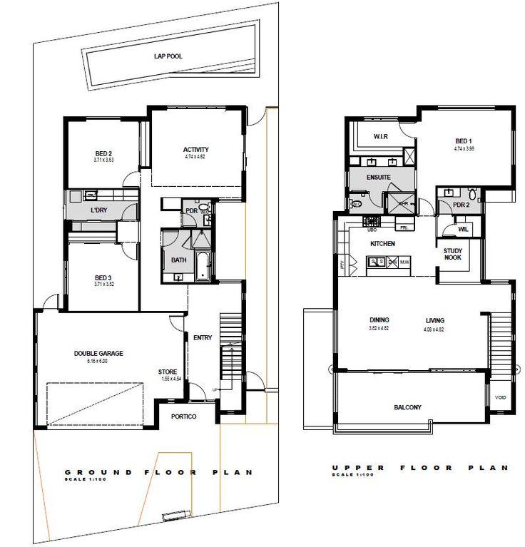 43 best Reverse Living House Plans images – Upside Down House Floor Plans